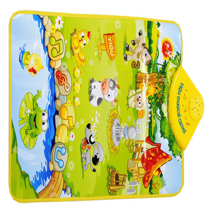 Fashion Farm Animal Musical Music Touch Play Singing Gym Carpet Educational Electronic Toy Gift Toy Musical Instrument Anne(China (Mainland))