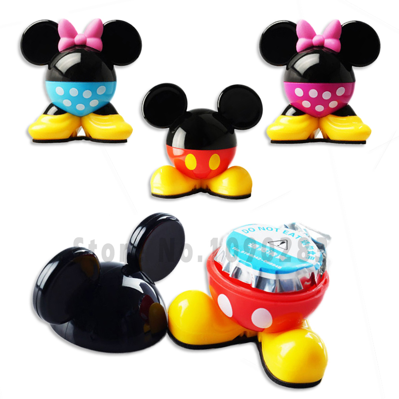 4 color Mickey Perfume seat car air freshener Mickey car aromatizer cartoon flavor in car new auto air freshener fresh car scent(China (Mainland))