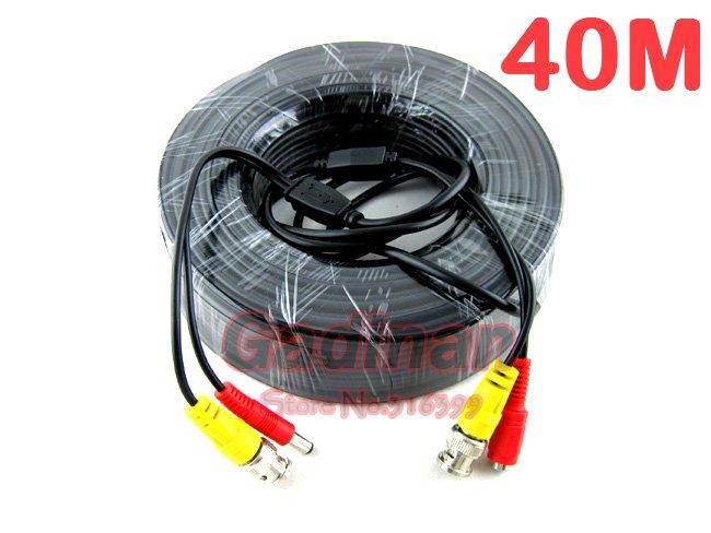 Гаджет  !Free Shipping!1pcs, 40M Video&Power CCTV Cable, BNC+DC(BNC female plug+DC male plug cable), Use For Surveillance CCTV Cameras None Безопасность и защита