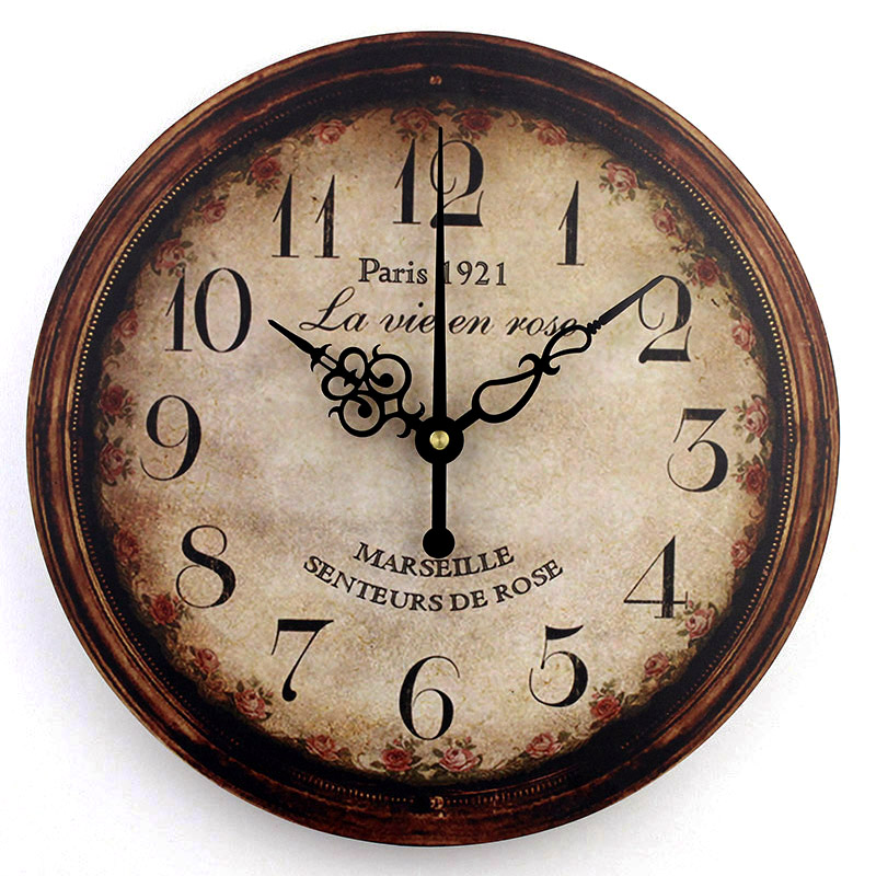vintage large decorative wall clock home decor fashion silent 3d wall clock modern design. Black Bedroom Furniture Sets. Home Design Ideas