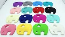 Min order 8 Mix order 8 Silicone Teething Elephant Pendant Baby cartoon toys silicone Teething Pendant