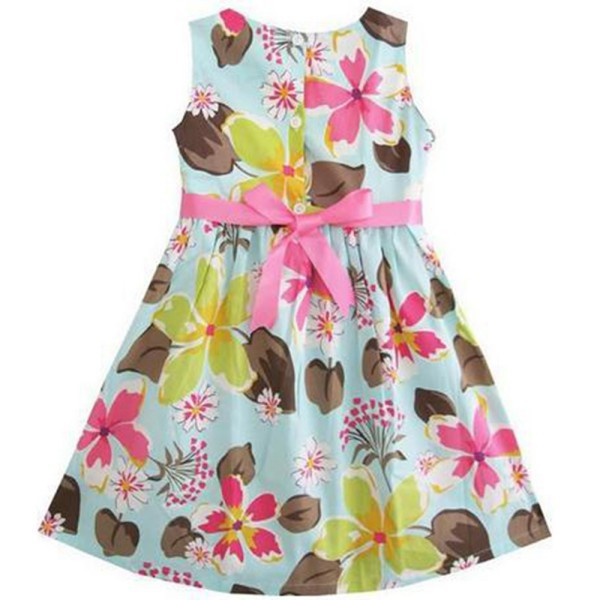 New Cute Girls Dress Flower Clothing Summer Dresses Wedding Kids Sundress 2 3 4 5 Years(China (Mainland))