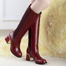 Tamaño 34-49 de moda los tacones altos botas hasta la rodilla zapatos de mujer sexy de motocicletas de invierno botas de nieve zapatos de las muchachas de la boda(China (Mainland))