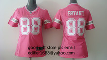 100% stitched women pink love Dallas Cowboys ladies 82 Jason Witten 9 Tony Romo 19 Miles Austin 50 Sean Lee 88 Dez Bryant(China (Mainland))