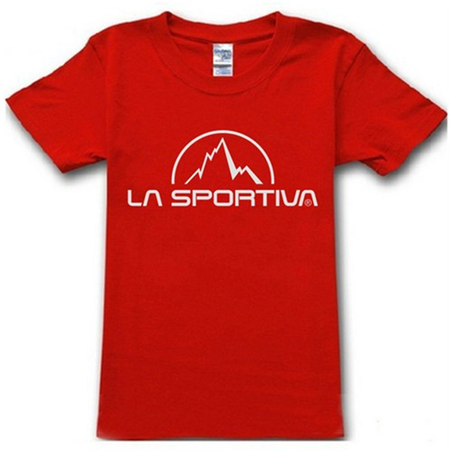 2015 Summer Famous Sport Brand La Sportiva T Shirt Cotton