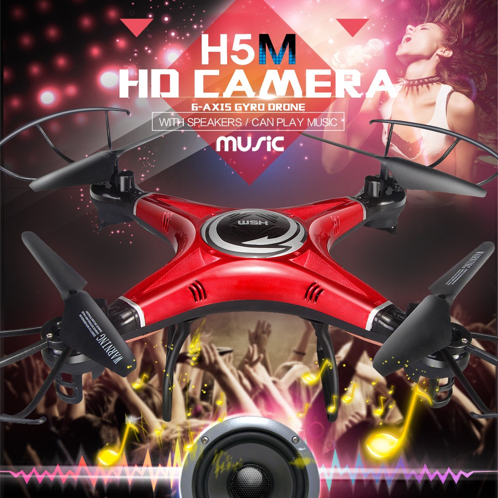 JJRC H5M Music Drones With Camera Hd Quadcopters With Speaker Hexacopter Professional Rc Dron Flying Helicopter Camera Copter(China (Mainland))