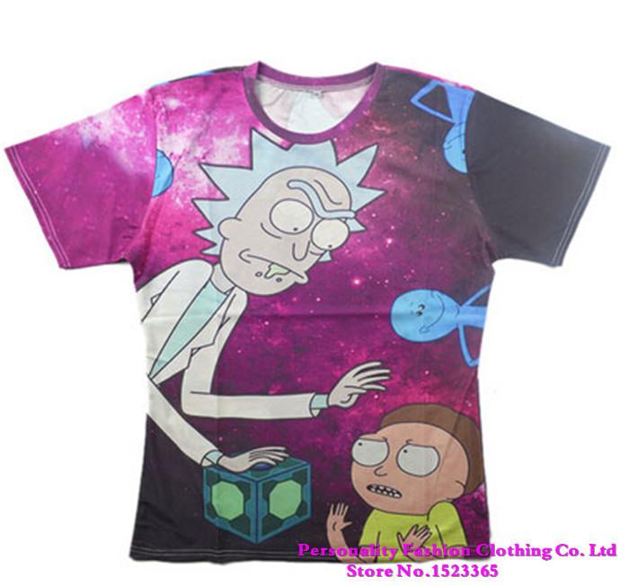 2015 New Rick Morty Print 3d t shirt funny Cartoon summer style men/women camisa masculina plus size S-XXL - Personality Fashion Clothing Co. Ltd store