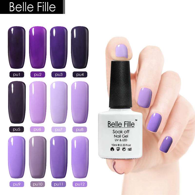 10ml Soak Off Nail Decoration Polish Purple Series Colorful Gel Polish UV Led Lamp Gelpolish Color Nailpolish Simple Nail Polish(China (Mainland))