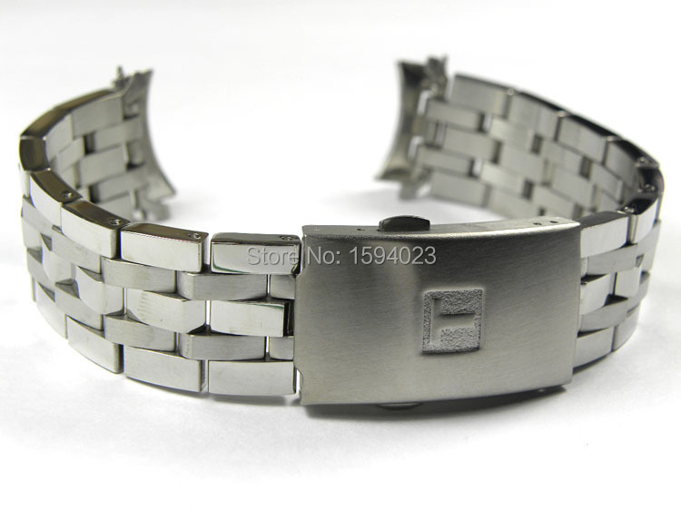 Гаджет  19mm PRC200 T17 T461 T014430 T014410 Watchband Watch Parts male strip Solid Stainless steel bracelet strap None Ювелирные изделия и часы