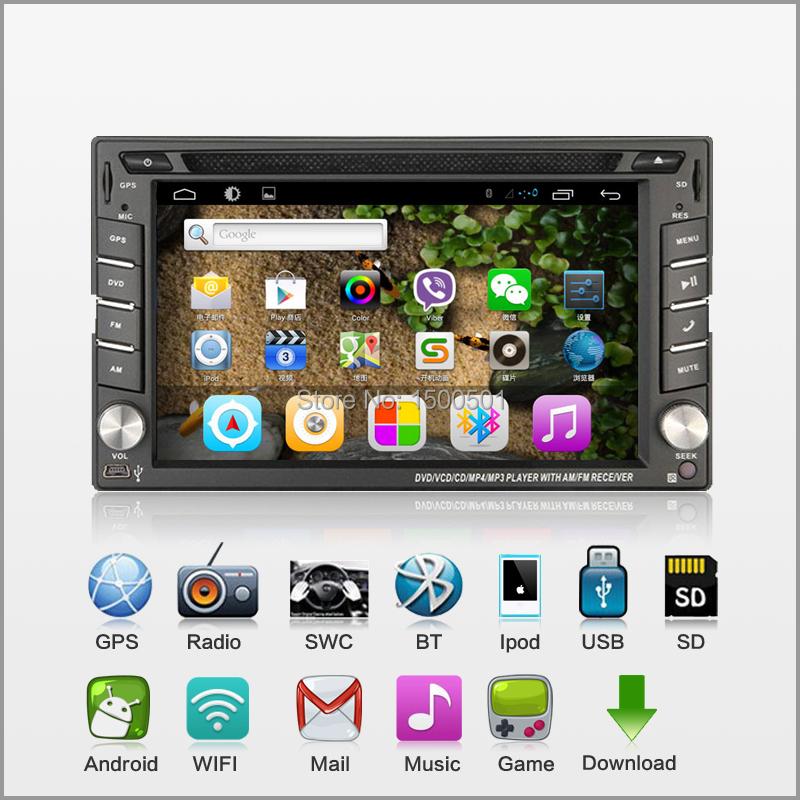 2015 2din Android 4.2 car pc Capacitive universal car DVD+GPS+Wifi+Bluetooth+Dual core 1GB CPU+DDR3 +8GB Flash audio Free camera(China (Mainland))