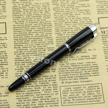 Buy J34 Free New Useful Bright Black Medium Nib Fountain Pen Silvery Trim for $2.02 in AliExpress store