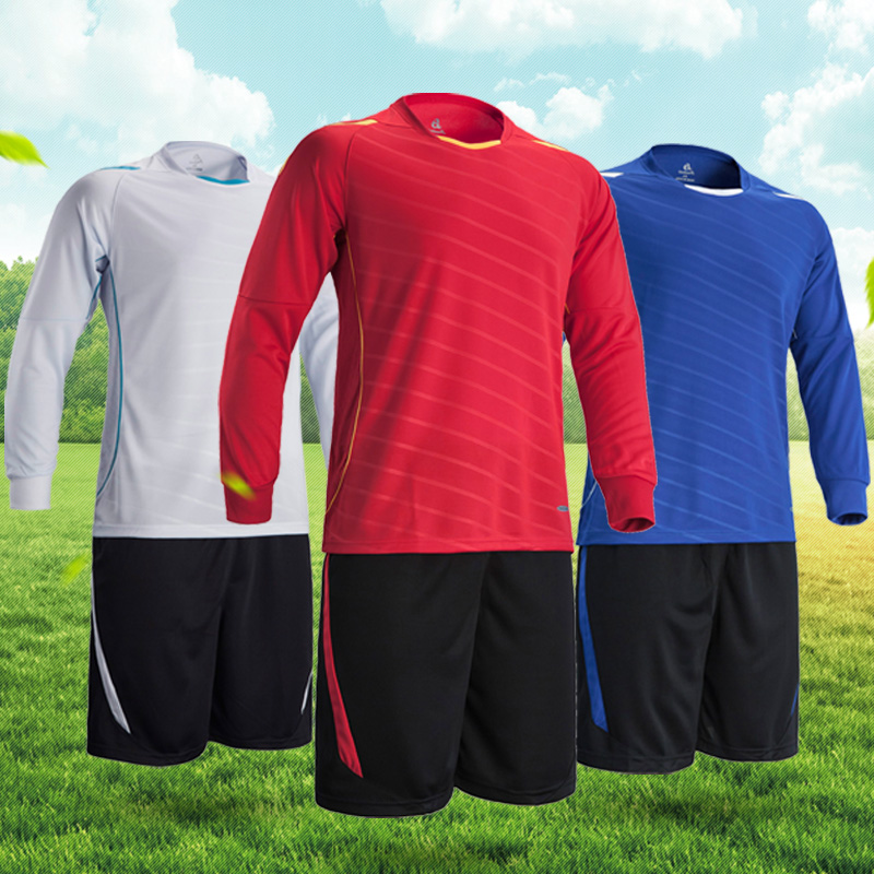 New Men's Soccer sets Football Jerseys High Quality Breathable Long Sleeve Youth Football Soccer Training Suit For Adult/KIds(China (Mainland))