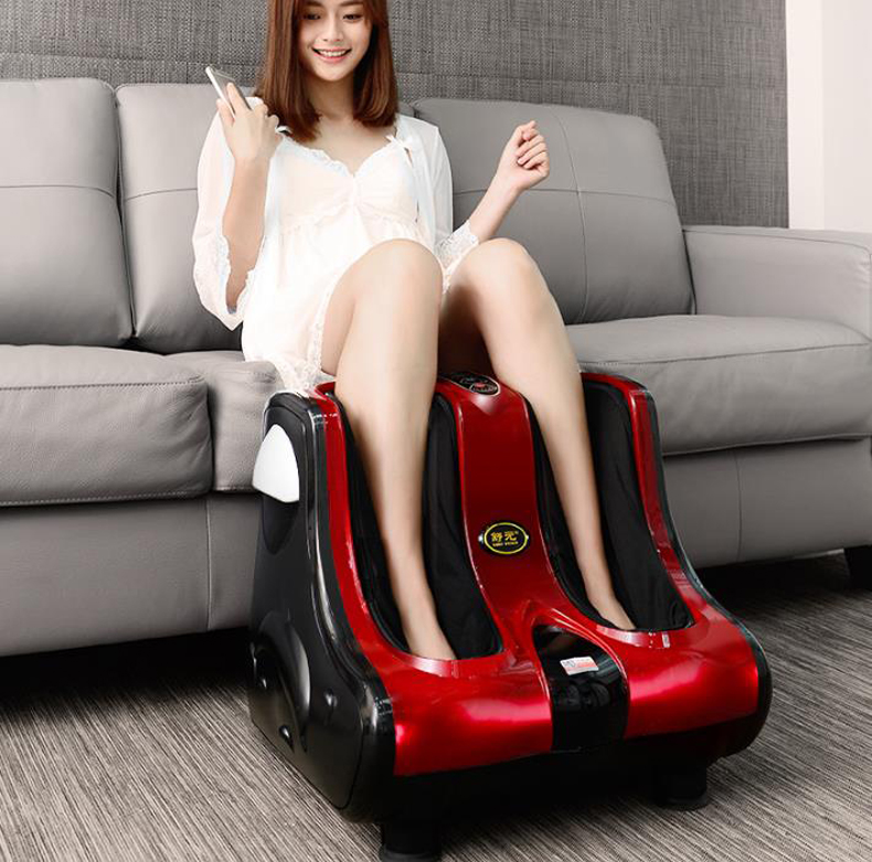 Household Multi-function electric foot massager Circular massage judo airbags Heat the leg machine old man leg massager/130905/4(China (Mainland))