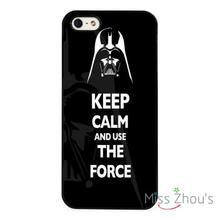Darth Vader Keep Calm Star Wars back skins mobile cellphone cases cover for iphone 4/4s 5/5s 5c SE 6/6s plus ipod touch 4/5/6