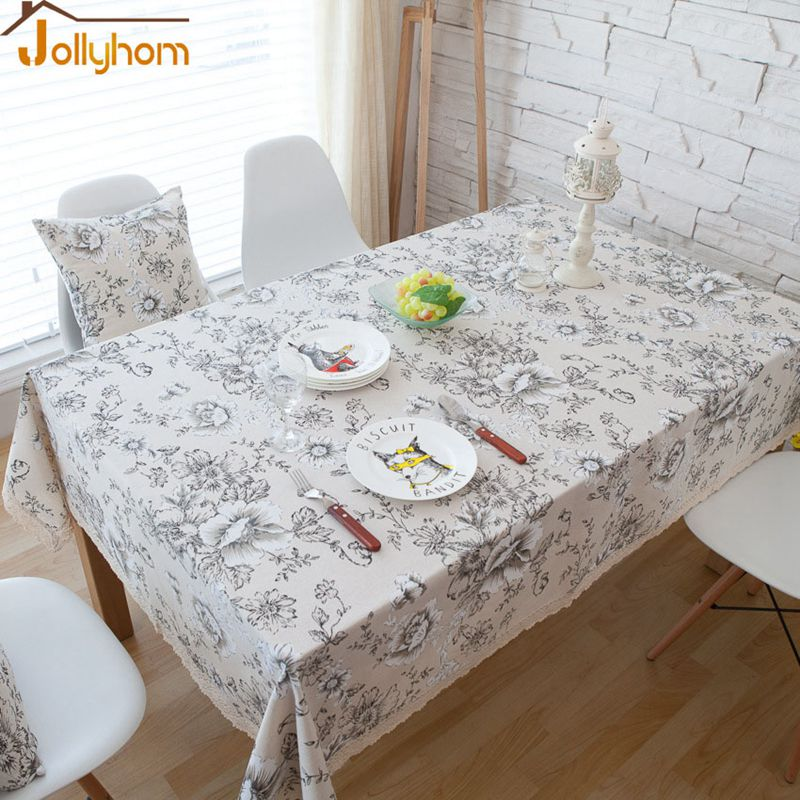 Hot Sale Floral style anti-dirty Tablecloth Home Textile Fabric Dining/Tea table 55''/70''/78'' Accept Custom easy Washable(China (Mainland))