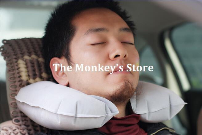 Free shipping! Travel Inflatable Neck Air Cushion Pillow Comfortable business trip F0826(China (Mainland))