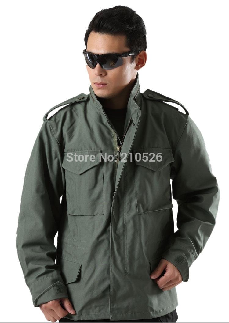 Outdoor uomini Tattico Militare M65 Giacca maschile REGNO UNITO STATI UNITI esercito giacca a vento Camping Cappotto sport multi-tasca con cappuccio pilot coat(China (Mainland))