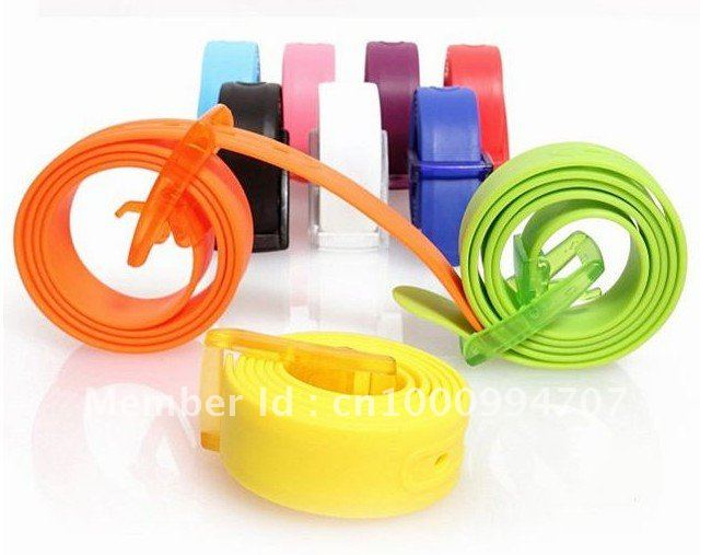 New Arrival Adult Fashion Silicone TPE belt Fashion fragrance Unisex candy jelly belt Width 3.5CM(China (Mainland))