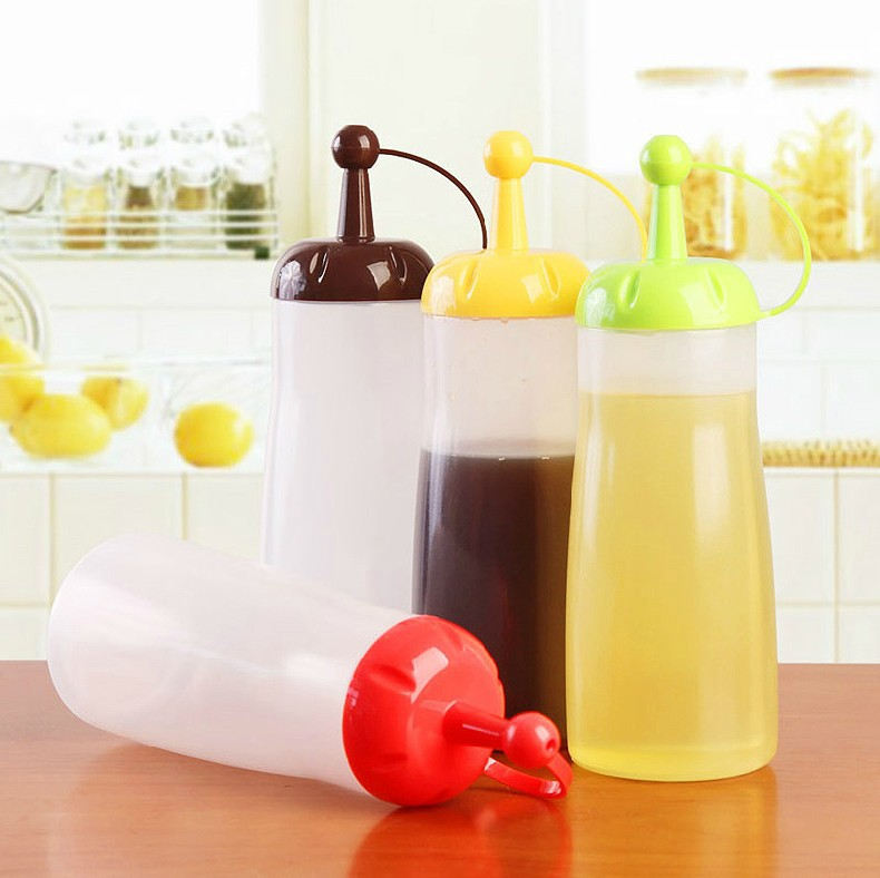 10pieces/lot kitchen condiment bottles plastic sauce boat gravy boat kitchenwar Multi-functional condiment bottle CSYT0603(China (Mainland))