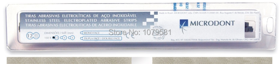 PACK/6 PCS Stainless Steel Abrasive Saw Blade Strip - 2,5mm (Aluminum Oxide)FOR ENDODONTIC IN DENTAL(China (Mainland))