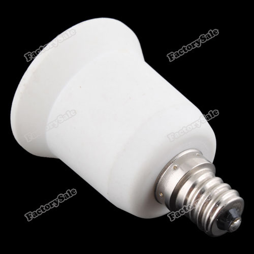 factorysale Personaly! E12 to E27 Base LED Light Lamp Bulb Adapter Converter worldwide Cheapest(China (Mainland))