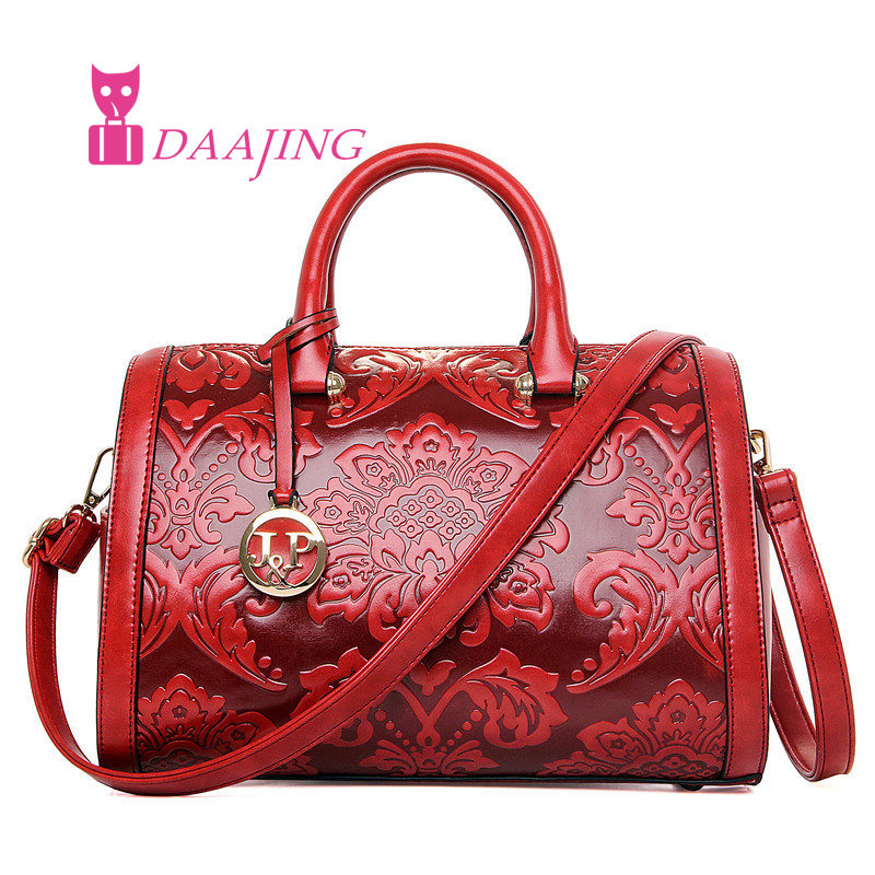 2016 Women Fashion Genuine Leather Handbags Ladies Embroidery Famous Brand Designer Shoulder Messenger Bag High Quality Handbag<br><br>Aliexpress