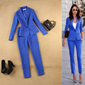 Fall fashion suit suit female career suit jacket and long sections temperament casual two piece pants