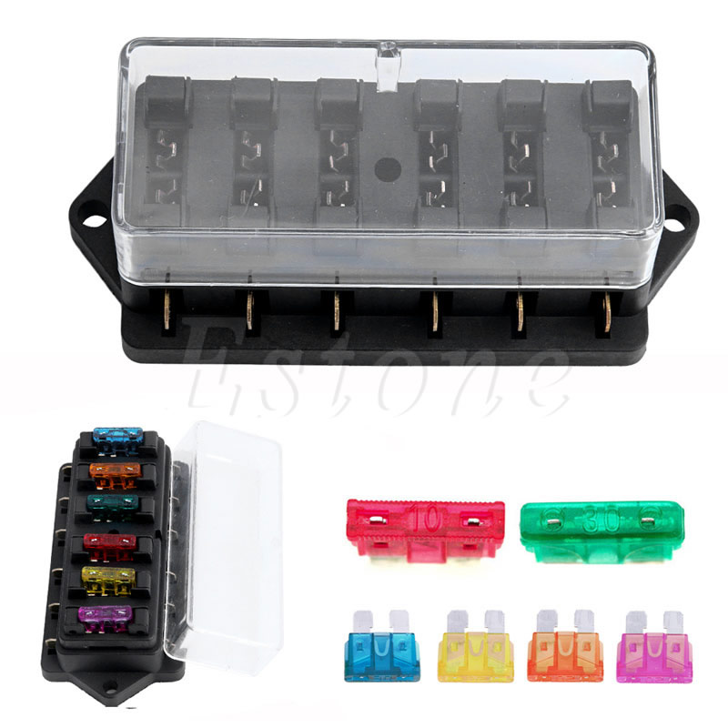 online buy whole fuse car block from fuse car block circuit standard car 6 way ato automotive blade standard fuse box block holder d2tb