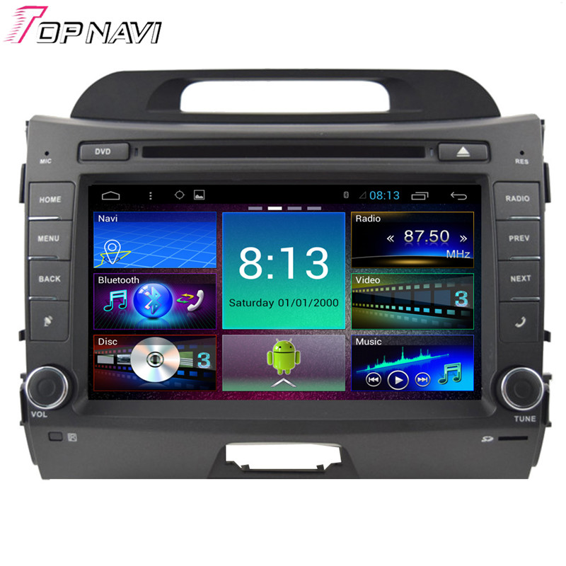 Top 8'' Quad Core Android 4.4 Car Stereo For KIA Sportage R With GPS Map Radio Audio 16GB Flash Mirror Link Free Shipping(China (Mainland))