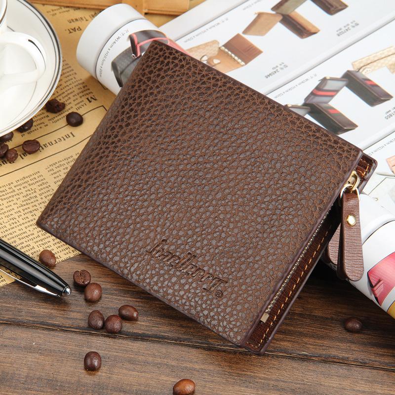 Bifold zipper men wallet leather 2016 male brand short purse card coin holder luxury portfolio men vintage designer sport cuzdan(China (Mainland))
