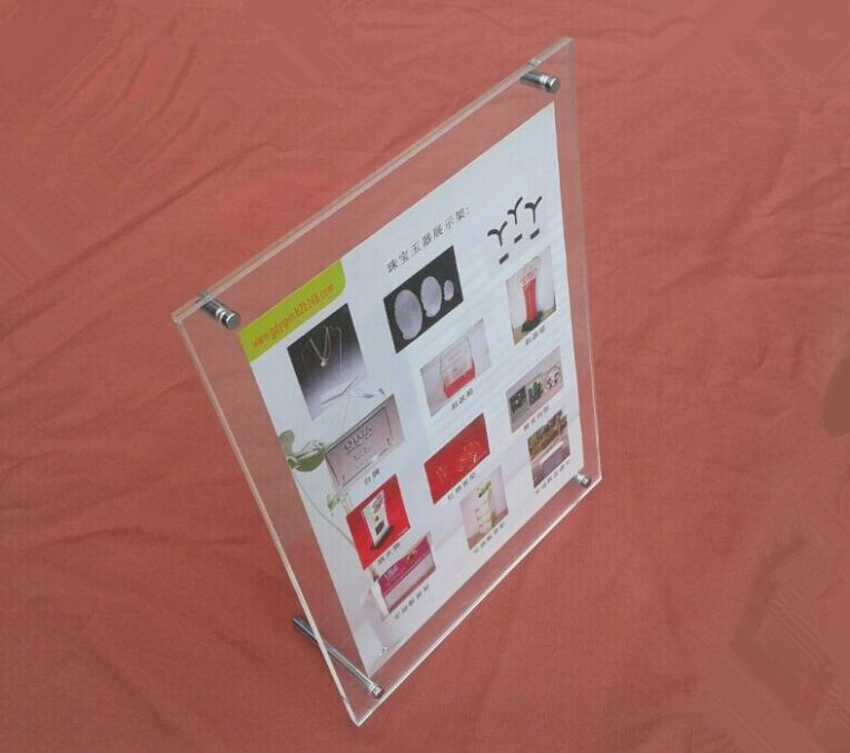 (GT3163-16inch) New Acrylic Certificate Frame Hot Selling Business Licence Display Frame Plexiglass Photo Showing Stand(China (Mainland))