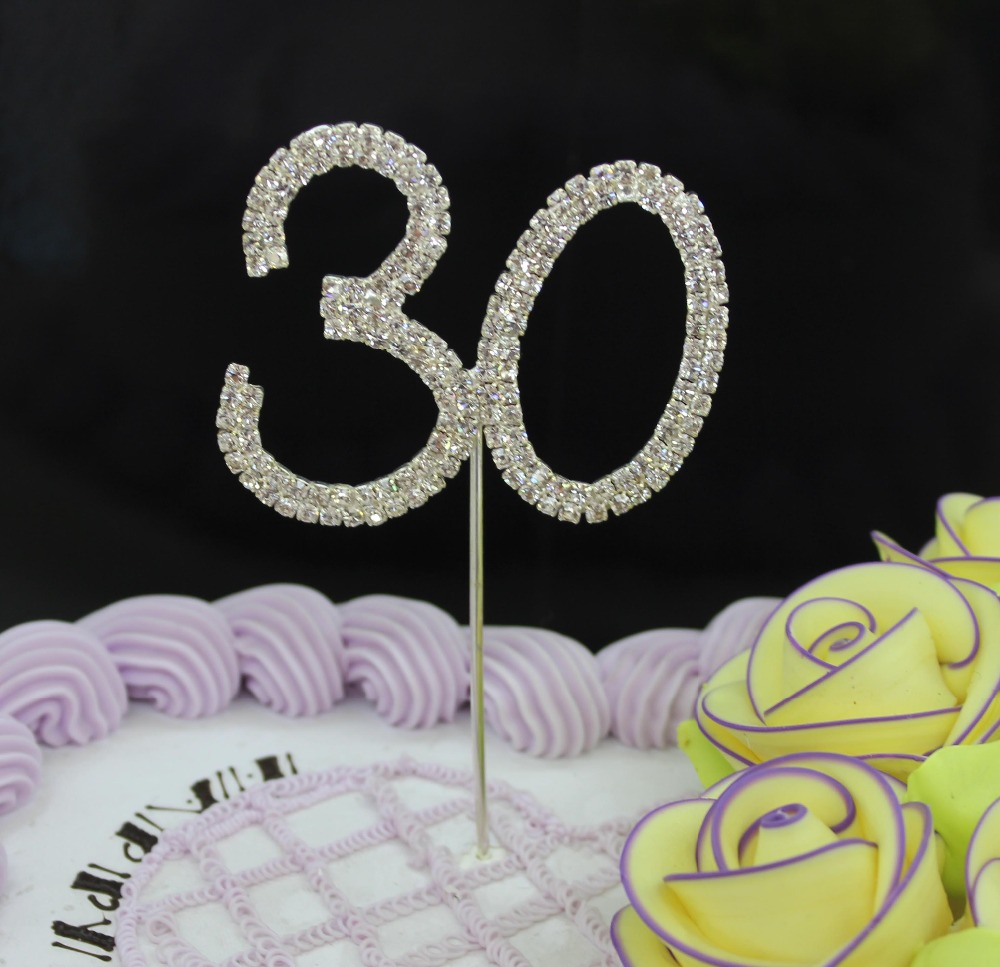 HOT FREE SHIPPING 1 PIECE Rhinestone Cake Topper Wedding Birthday Crystal Diamante Party Festive Events Supplies(China (Mainland))
