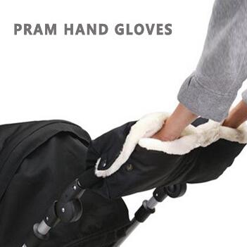 Hot ! Pram Hand Gloves Baby Stroller Accessories Winter Warm Gloves Waterproof Anti-freeze Plush Thicken High Quality Y074(China (Mainland))