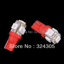 Wholesale 100pcs/lot T10 194 168 192 W5W 5050 smd 5smd super bright Auto led car lighting wedge white red blue yellow pink green(China (Mainland))