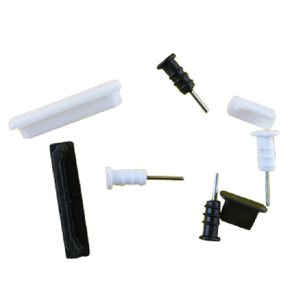3.5mm earphone jack + Charger USB Anti Dust Plug headphones Cap Stopper for iPhone 4 4S 100Sets/lot wholesale(China (Mainland))