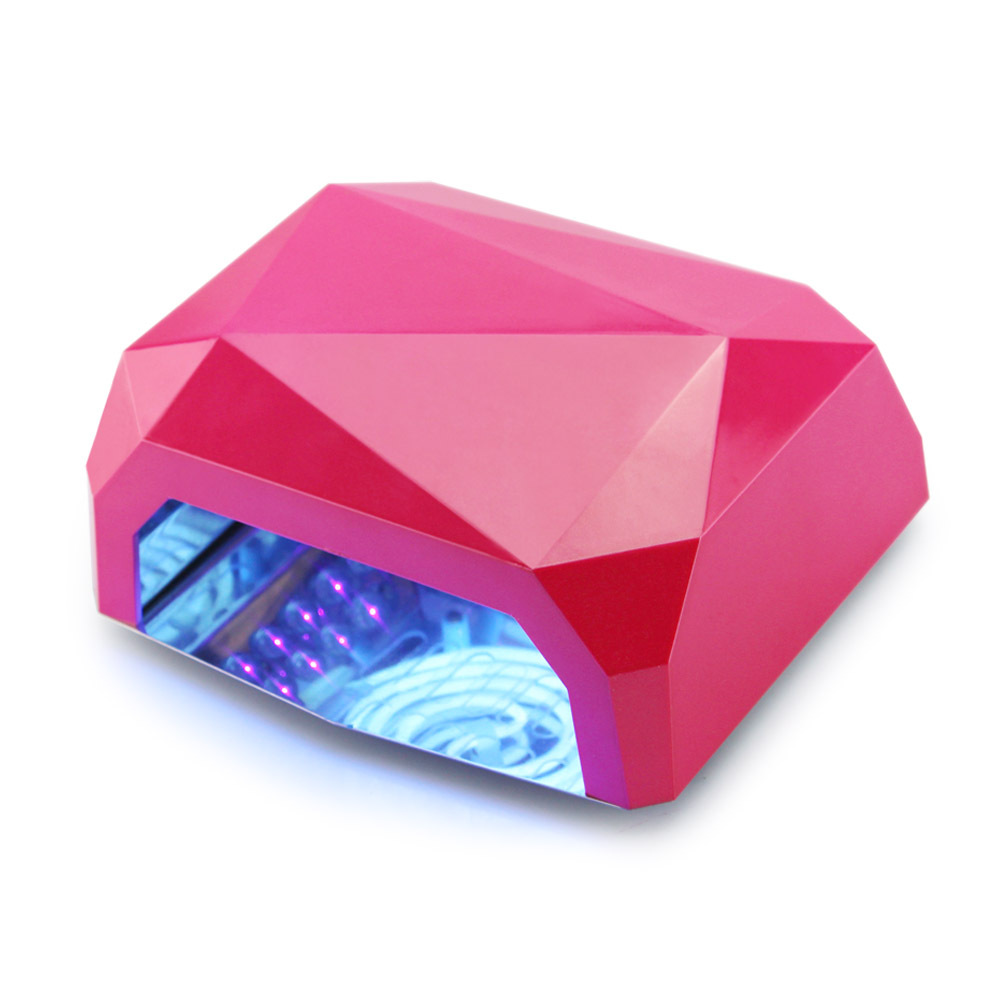 New Hot LED uv lamp 36 w 110-220V gel nail machine dry nails Diamond Shaped Best Curing Nail Dryer for UV Gel Nail lamp shellac(China (Mainland))