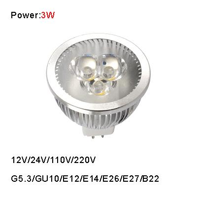 3W led bulb G5.3/GU10/E27/E14 220V/110V/24V/12V high power led lamp cup spotlights free shipping(China (Mainland))