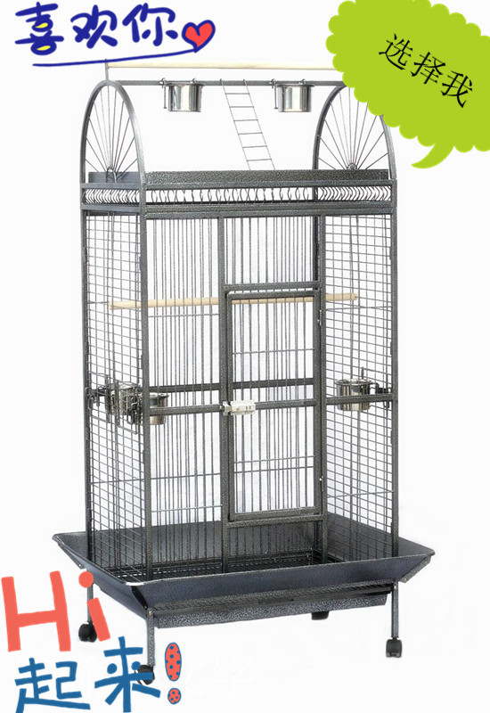 Exquisite Large steel birdcage parrot cage eco-friendly large bird cage paint parrot rack(China (Mainland))