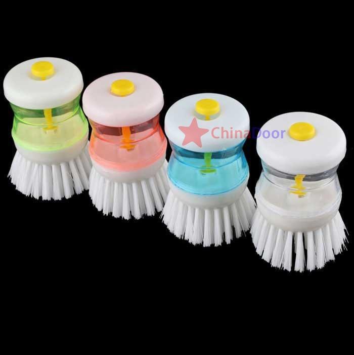 ChinaDoor Super Kitchen Wok Pot Detergent Self-Dispensing Brush Cleaner(China (Mainland))