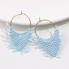 SEDmart 2019 thời trang mới cá tính thủ công thả Bông tai nữ Boho bông Tua Rua Bông tai nam trang sức(China)