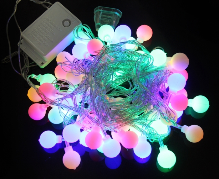5M 50 LED string Christmas decoration lights led light holiday night Merry Festival Led Strip lights Russia Free Shipping(China (Mainland))
