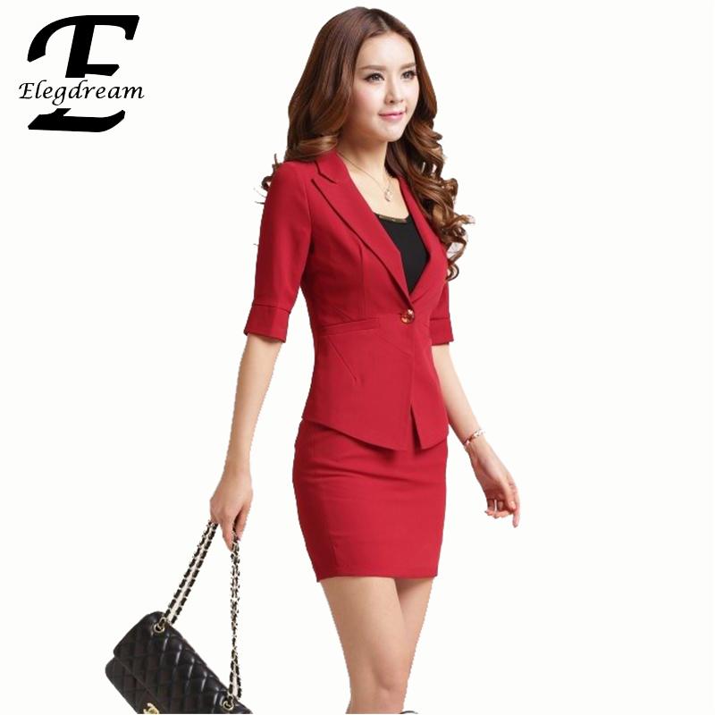 S XXXL Women Professional Worker Wear Ladies Blazer Skirt Sets Female Business Formal Office Suits Uniform Designs Jacket SkirtОдежда и ак�е��уары<br><br><br>Aliexpress