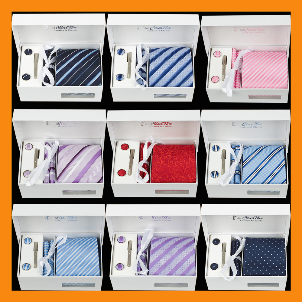 Men Ties Wide Neckties Gravata Masculinas Corbatas Jacquard Woven Necktie Set Cufflink Hanky ties Set Business Wedding Holiday(China (Mainland))