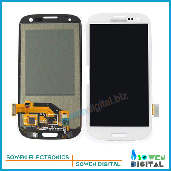 LCD Screen with Touch Screen for Samsung Galaxy S3 i9300 i9305 i747 t999 Full Set with open tools White Color
