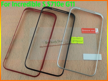 100% Original Front Metal Frame Housing Cover Case+Protective Film Free For HTC Incredible S S710e G11 Black/Red/White(China (Mainland))