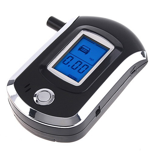 Prefessional Mini Police Digital LCD Breath Alcohol Tester the Breathalyzer battery Dropship Parking Car Detector Gadget Meter(China (Mainland))