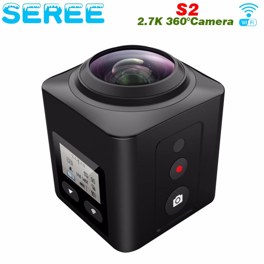 Seree Mini 360 Video Camera 4K WiFi Sport Action Camera 16MP 3D DVR Waterproof Digital Camcorder Deportiva VR Cam for Iphone LG(China (Mainland))
