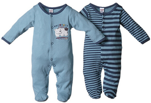 Cotton Baby Clothing Newborn Baby Boys and Girls Rompers 2-Piece Infant Clothes Size 3-18 Months Spring and Autumn(China (Mainland))