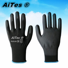 13G black PU Work Gloves Palm Coated ,working gloves,Workplace Safety Supplies,Safety Gloves PU518,guantes trabajo 24pcs=12pairs(China (Mainland))