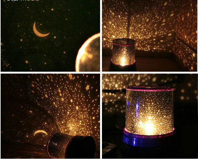 Romantic LED Night Light Projector Sky Star Decor Lamp Gift + USB Cable Light(China (Mainland))